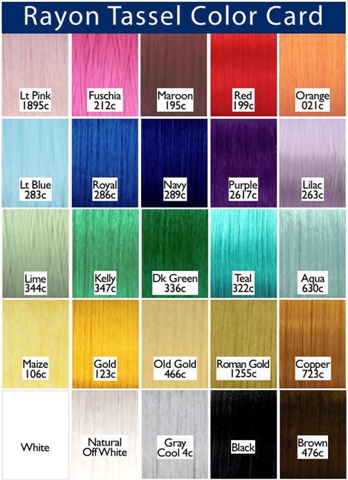 Color Chart - all 25 colors